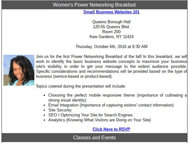 women's power networking breakfast